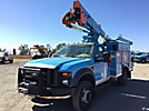 HiRanger TL38-P, Articulating & Telescopic Bucket Truck mounted behind cab on 2008 Ford F550 4x4 Service Truck