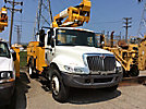 HiRanger TL41-MH, Articulating & Telescopic Material Handling Bucket Truck, mounted behind cab on, 2005 International 4300 Utility Truck