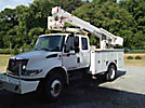 HiRanger TL41-MH, Articulating & Telescopic Material Handling Bucket Truck, mounted behind cab on, 2009 International 4400 Extended-Cab Utility Truck