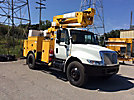 HiRanger TL41-MH, Articulating & Telescopic Material Handling Bucket Truck mounted behind cab on 2005 International 4300 Utility Truck