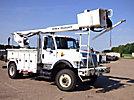 HiRanger TS402, Material Handling Bucket Truck rear mounted on 2003 International 7400 4x4 Utility Truck