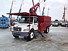 HiRanger XT5, Over-Center Bucket Truck, mounted behind cab on, 2003 Freightliner M2 106 Chipper Dump Truck