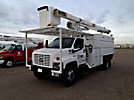 HiRanger XT5-55, Over-Center Bucket Truck, mounted behind cab on, 2003 Chevrolet C7500 Chipper Dump Truck