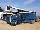 HiRanger XT5-60-70, Over-Center Elevator Bucket Truck, mounted behind cab on, 2001 International 4700 Chipper Dump Truck