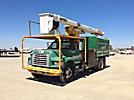 HiRanger XT52, Over-Center Bucket Truck, mounted behind cab on, 1998 Ford F800 Chipper Dump Truck