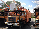 HiRanger XT55, Over-Center Bucket Truck, mounted behind cab on, 1999 GMC C7500 Chipper Dump Truck