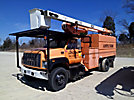 HiRanger XT55, Over-Center Bucket Truck, mounted behind cab on, 2002 GMC C7500 Chipper Dump Truck