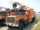 HiRanger XT55, Over-Center Bucket Truck, mounted behind cab on, 2002 GMC C7500 Chipper Dump Truck
