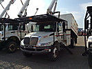 HiRanger XT55, Over-Center Bucket Truck, mounted behind cab on, 2006 International 4300 Chipper Dump Truck