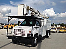 HiRanger XT55, Over-Center Bucket Truck, mounted behind cab on, 2007 GMC C7500 Chipper Dump Truck