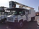 HiRanger XT55, Over-Center Bucket Truck, mounted behind cab on 2005 GMC C7500 Chipper Dump Truck,