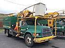 HiRanger XT55, Over-Center Bucket Truck mounted behind cab on 1999 Ford F800 Chipper Dump Truck