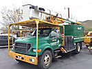 HiRanger XT55, Over-Center Bucket Truck mounted behind cab on 2000 Ford F750 Utility Truck