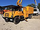 HiRanger XT55, Over-Center Bucket Truck mounted behind cab on 2000 GMC C7500 Chipper Dump Truck
