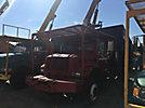 HiRanger XT55, Over-Center Bucket Truck mounted behind cab on 2002 International 4800 4x4 Chipper Dump Truck