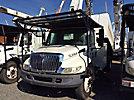 HiRanger XT55, Over-Center Bucket Truck mounted behind cab on 2005 International 4300 Chipper Dump Truck