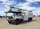 HiRanger XT60, Over-Center Bucket Truck, mounted behind cab on, 2001 GMC C7500 Chipper Dump Truck