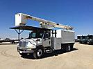 HiRanger XT60, Over-Center Bucket Truck, mounted behind cab on, 2003 International 4300 Chipper Dump Truck