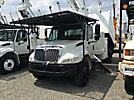 HiRanger XT60/70, Over-Center Elevator Bucket Truck, mounted behind cab on 2006 International 4300 Chipper Dump Truck,