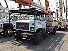 HiRanger XT60/70, Over-Center Elevator Bucket Truck, rear mounted on, 2002 GMC C8500 4x4 Flatbed Truck