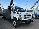 HiRanger/Terex FC48, center mounted on, 2005 GMC C7500 Utility Truck