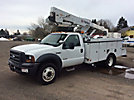 HiRanger/Terex TL 38P, Articulating & Telescopic Bucket Truck, mounted behind cab on, 2007 Ford F550 4x4 Service Truck