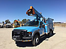HiRanger/Terex TL 38P, Articulating & Telescopic Bucket Truck mounted behind cab on 2008 Ford F550 4x4 Service Truck