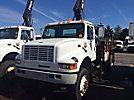 Hiab 071-2AB, Hydraulic Knuckle Boom Crane, mounted behind cab on, 2000 International 4800 4x4 Flatbed Truck