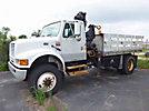 Hiab 071-2AW, Hydraulic Knuckle Boom Crane, mounted behind cab on, 1996 International 4800 4x4 Flatbed Truck