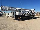 Hiab 071-2AW, Hydraulic Knuckle Boom Crane mounted behind cab on 2001 International 4800 4x4 Flatbed Truck
