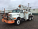 Highway, Pressure Digger, mounted behind cab on, 1995 International 4900 T/A Flatbed/Utility Truck