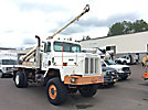 Highway HCBMS, Pressure Digger rear mounted on 1979 Autocar 5000, 4x4 Flatbed Truck