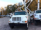 Holan 805, Material Handling Bucket Truck rear mounted on 2002 International 4700 Utility Truck