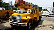 Holan 805-42, Material Handling Bucket Truck, center mounted on, 1998 Ford F800 Utility Truck