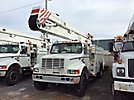 Holan 805-55, Material Handling Bucket Truck, rear mounted on, 2002 International 4700 Utility Truck