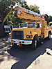 Holan 805B, Material Handling Bucket Truck, center mounted on, 1997 Ford F800 Utility Truck