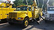 Holan 805B-47-3, Material Handling Bucket Truck, rear mounted on, 1998 International 4900 Utility Truck