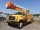 Holan 805B-50-3, Material Handling Bucket Truck, center mounted on, 2001 GMC C7500 Utility Truck