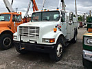 Holan 83G, Bucket Truck, rear mounted on, 2001 International 4700 Utility Truck