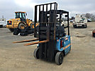 Hyster A30XL, 2,700# Solid Tired Forklift, s/n A203A03524L, electric, shuttle, with 174 mast hight, hyd side shift & 42 forks (Reads 6339 Hours)