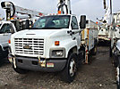 IMT 1295-9000, Hydraulic Knuckle Boom Crane, mounted behind cab on, 2003 Chevrolet C7500 Flatbed Truck