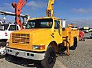 IMT 5200, Hydraulic Knuckle Boom Crane mounted behind cab on 1995 International 4900 URD/Flatbed Truck