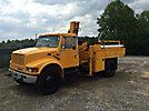 IMT 5200, Hydraulic Knuckle Boom Crane mounted behind cab on 2000 International 4900 URD/Flatbed Truck