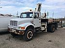 IMT 6425, Hydraulic Knuckle Boom Crane, mounted behind cab on, 1992 International 4800 4x4 Flatbed Truck