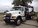 Jabco JT330, Grappleboom Crane mounted behind cab on 2007 Mack CV713 Granite Tri-Axle Flatbed Truck