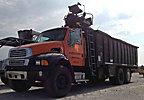 Lemco 8000C, Grappleboom Crane, mounted behind cab on, 2004 Sterling Acterra T/A Debris Dump Truck