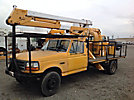 Lift-All LAH32-1S, Bucket Truck, rear mounted on, 1992 Ford F450 Flatbed Truck