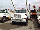 Lift-All LAN65-2E, Bucket Truck, rear mounted on, 1998 International 4900 Flatbed/Utility Truck