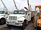 Lift-All LAN65-2E, Bucket Truck, rear mounted on, 2000 International 4900 Flatbed/Utility Truck