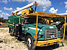 Lift-All LAOC-51-1S, Over-Center Bucket Truck mounted behind cab on 1996 Ford F800 Chipper Dump Truck